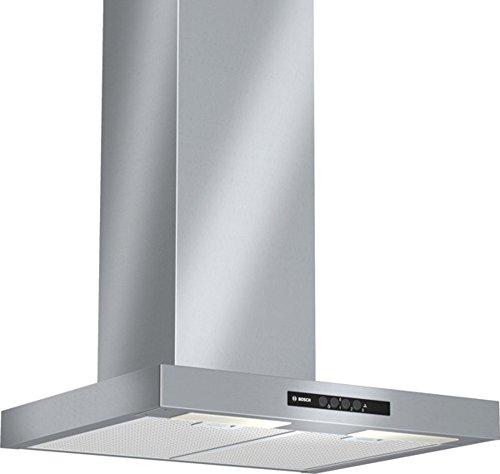 Bosch DWB06W652 Serie 2 Kaminhaube / Breite: 60 cm / Edelstahl / Wippenschalter / Metallfettfilter