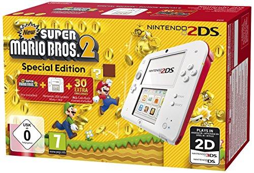 Nintendo 2DS - Konsole (wei� + rot) inkl. New Super Mario Bros. 2 (vorinstalliert)