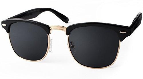 UVprotect� Clubmaster Horn Optik Sonnenbrille Schwarz W33