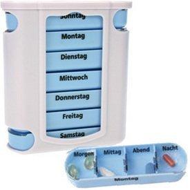 M&H-24 Medikamentendosierer, Pillendose, Pillenbox, Tablettendose, Tablettenbox, Wochendosierer, 7 Tage, 1 St�ck