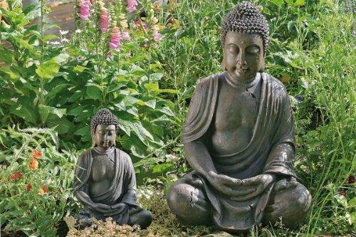 Buddha-Figur, Buddha-Skulptur, Gartenfigur, sitzender Buddha, H�he 40 cm, 1 St�ck