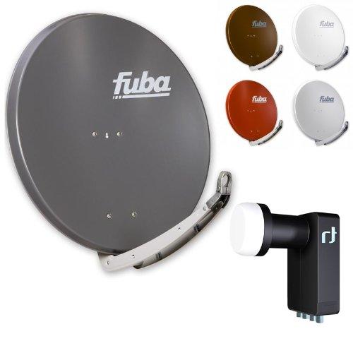 Fuba DAA 850 HD Sat Anlage - 4 Teilnehmer (m. Inverto Quad LNB) - Sat Anlage bestehend aus Fuba DAA 850 in Ihrer Wunschfarbe + Inverto Black Ultra Quad LNB