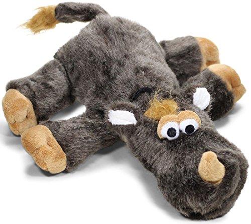 Knuffelwuff 13015 Hundespielzeug Nashorn aus Pl�sch mit Quietscher, 44 cm
