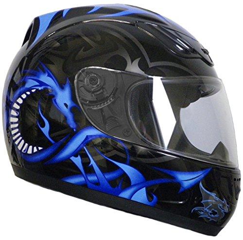 Rallox Helmets Integralhelm 510-3 schwarz/blau RALLOX Motorrad Roller Sturz Helm ( XS, S, M, L, XL ) Gr��e L