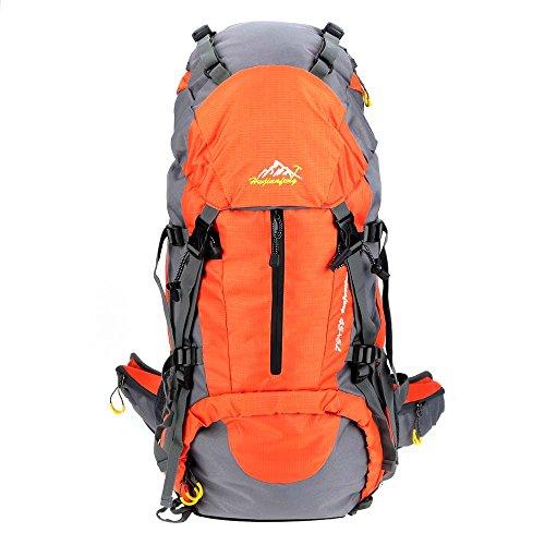 Lixada 50L Wasserdichte Outdoor Sport Wandern Trekking Camping Rucksack Travel Pack-Bergsteigen Klettern Knapsack mit Regen-Abdeckun