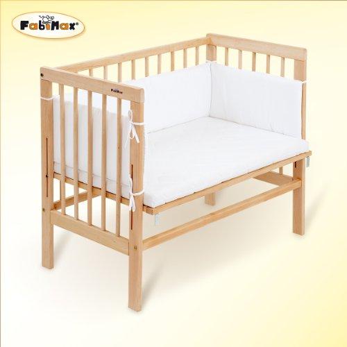 FabiMax 2386 Beistellbett Basic inklusiv Matratze Comfort und Nest Amelie, natur / wei�