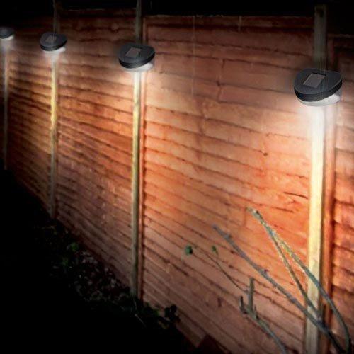 8 Solar Betriebene LED Zaun Leuchten Au�en Wand Garten Weg T�r Beleuchtung Neu