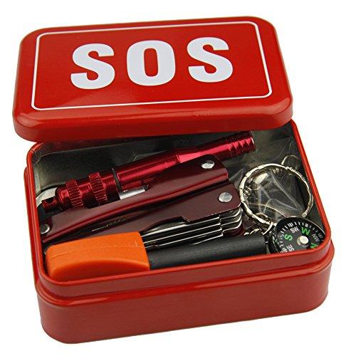 Survival Set Basic Kit �berlebens Set Notfall Tool Box Sos Set Werkzeuge F�r Reisen Camping Wandern Not�Berlebens Zubeh�r