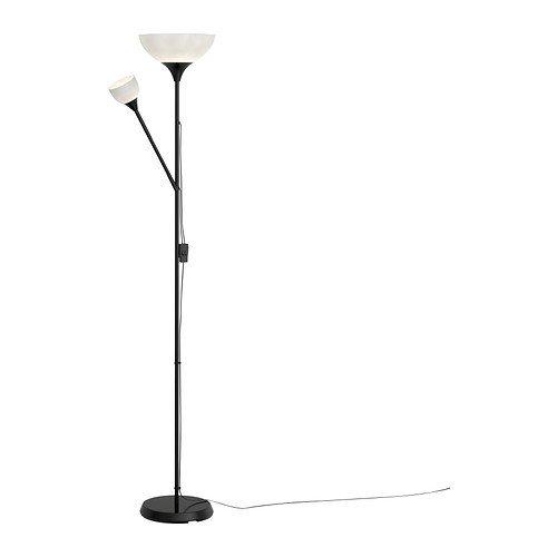 """IKEA Stehlampe Deckenfluter """"NOT"""" Leseleuchte Leselampe - 176 cm hoch - atmosph�rische Standleuchte - in SCHWARZ"""