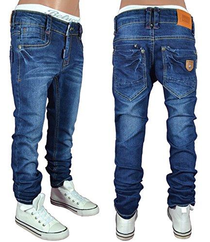 S&Q1419 SQUARED & CUBED Jeans Hose Junge Kinder blau 122-176 (8 (ca.122-128))