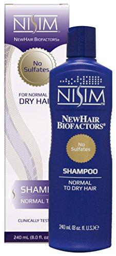Nisim NewHair Biofactors Shampoo Dry 240ml, schneller Haarausfall Stopp, Haar normal bis trocken