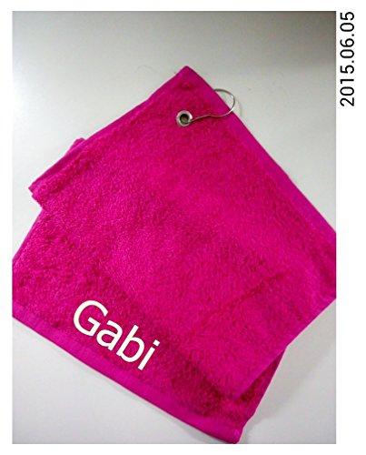 Golf-Handtuch | bestickt mit deinem Namen | 30x50 cm verschiedene Farben