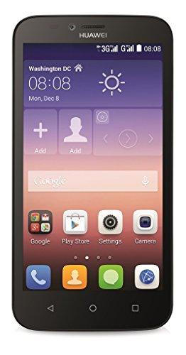 Huawei Y625 Smartphone (12,7 cm (5 Zoll) IPS-Display, 1,2 GHz-Quad-Core-Prozessor, 8 Megapixel-Kamera, 4 GB interner Speicher, Dual-SIM, Android 4.4) schwarz