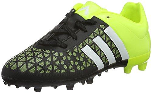 adidas ACE 15.3 FG/AG J, Jungen Fu�ballschuhe, Mehrfarbig (Black / Yellow / White), 33 EU (1 Kinder UK)
