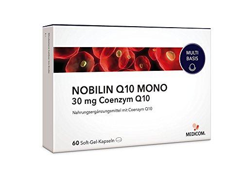 NOBILIN Q10 MONO 30 mg - 60 Coenzym Kapseln mit Q 10 Pulver - Anti Aging Zellschutz - Antioxidantien Komplex gegen freie Radikale