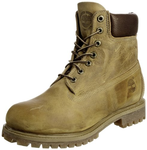 Timberland Classic 27092, Herren Schn�rboots , Gelb (Wheat Burnished Full Grain), EU 43 (US 9)