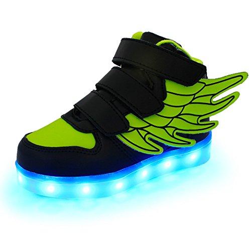 iFresh Jungen/M�dchen Kinder Freizeit Leuchtende LED Sneaker Sport Schuhe mit Turnschuhe Farbwechsel f�r Party Tanzen Rollbrett