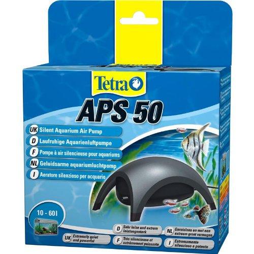Tetra APS 50 Aquarienluftpumpe Luftpumpe Membranpumpe f�r Aquarien (sehr leise laufruhig leistungsstark, mit Lufthahn zur Kontrolle des Luftstroms)
