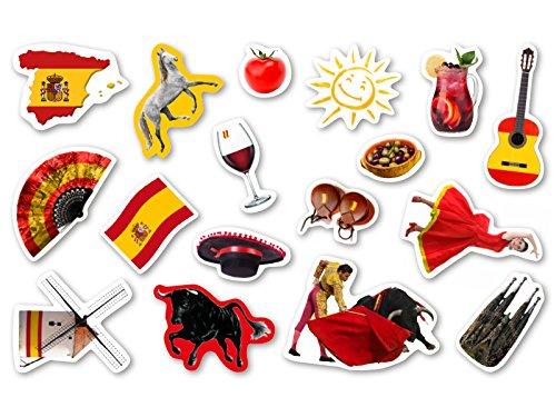 XXL-Gro�konfetti * SPANIEN * mit 51 gro�en Konfetti-Teilen f�r eine Motto-Party oder L�nder-Party // Party Kinder Kindergeburtstag Konfetti Deko Motto Spain Stierkampf Rotwein Flagge