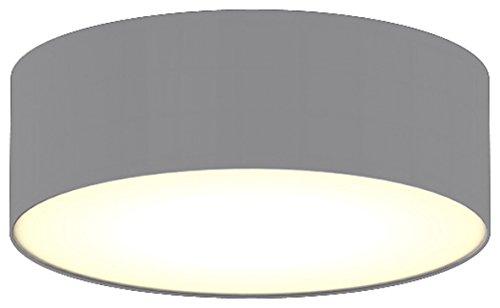 Ranex Ceiling Dream Collection Moderne Deckenleuchte, Durchmesser 30 cm, grau / satinierte Abdeckung 6000.539