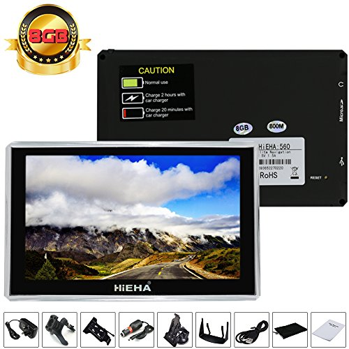 "Hieha� 5"" Zoll 8GB PKW Car Auto KFZ Europe Traffic GPS Navi Navigation Navigationssystem Navigationsger�t Lebenslange EU Karten POI Blitzerwarnungen 8GB"