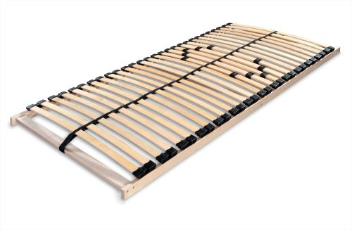 Betten-ABC Lattenrost MAX 1 NV MZV, zur Selbstmontage, mit 28 stabilen und flexiblen Federholzleisten und durchgehenden Holmen, mit Mittelzonenverstellung im Beckenbereich, Gr��e: 90 x 200 cm