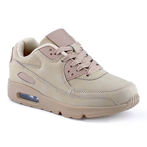 Damen Sneaker Sportschuhe Turnschuhe Laufschuhe Schuhe Khaki EU 38