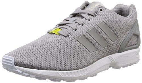 adidas ZX Flux Unisex-Erwachsene Laufschuhe, Grau (Aluminum/Running White), 46 2/3