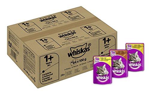 Whiskas 1+ Katzenfutter Gefl�gelauswahl in Sauce, 84 Beutel (84 x 100 g)