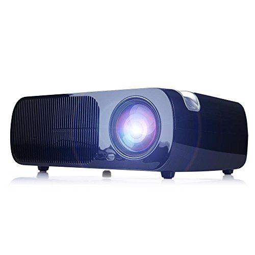 Beamer, HD 2600 Lumen Videoprojektor , LED1080P, Keystone-Korrektur, Kino Unterst�tzung HDMI VGA-Handels USB f�r Heimkino -Theater, Kinderspiele -Schwarz