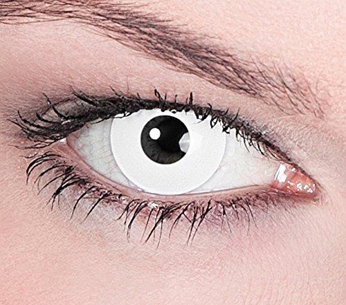 """1 Paar Farbige Kontaktlinsen Wei� """"White Zombie"""" Tageslinsen ohne St�rke"""