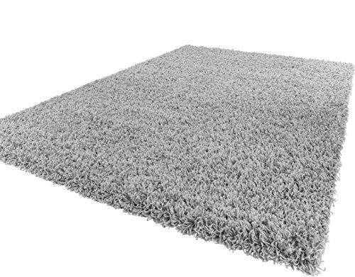 Shaggy Hochflor Langflor Teppich Sky Einfarbig in Grau, Gr�sse:120x170 cm