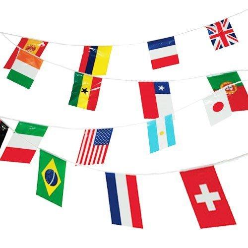 Girlande,L�nderflaggen,ca. 7m, 20 Flaggen je ca. 21 x 14cm