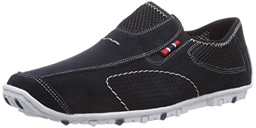 Rieker 08956 Loafers & Mocassins-Men, Herren Slipper, Blau (pazifik/schwarz/14), 43 EU