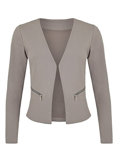 Damen Blazer mit Taschen ( 382 ), Farbe:Grau, Kost�me & Blazer f�r Damen:44 / XXL