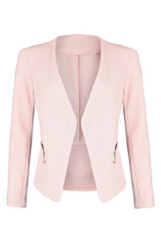 AO Blazer kragenlos mit Zipper rosa Gr. XL