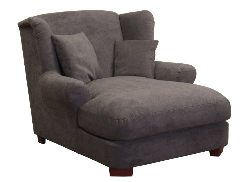 Cavadore 2198824 XXL-Sessel Love Seats, Schaumstoff, dunkelgrau, 120 x 142 x 92 cm