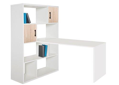 Ph�nix 806259WE Schreibtisch, Holz, wei�, 70 x 120 x 66 cm