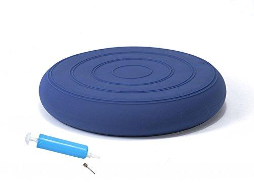 bonsport Sitzkissen ohne Noppen inkl. Pumpe 33 cm blau | Luftkissen in Premium Qualit�t | Balancekissen f�r Fitness, Reha oder Physio