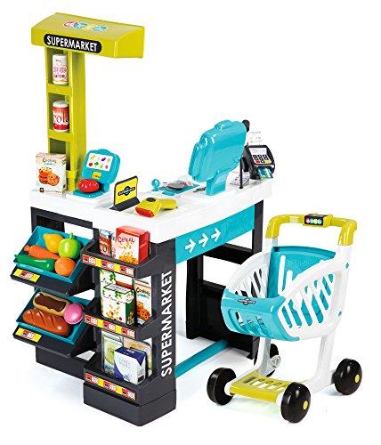 Smoby 350206 - Supermarkt mit Einkaufswagen, t�rkis/gr�n
