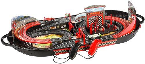 Playtastic Portable Rennbahn im Koffer - Komplett-Set mit 2 Autos