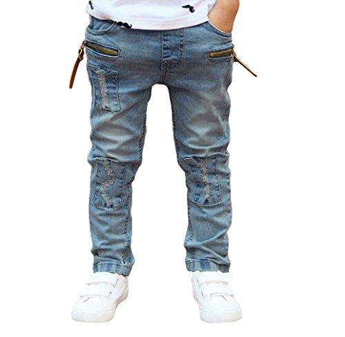 Tongshi Fr�hling Herbst neue Kinder Jeans jungen Wilden Baby Kinder Mode Jeans Kinder Jeans neu (1-2 Y, hellblau)