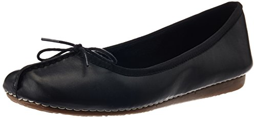 Clarks Freckle Ice, Damen Mokassin, Schwarz (Black Leather), 39.5 EU (6 Damen UK)