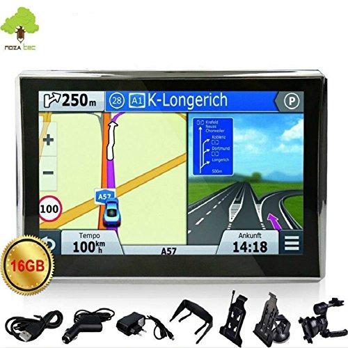 """Noza Tec 7"""" Zoll KFZ LKW GPS Navigationsger�t Navi Navigation POI FM 16GB 50 Landkarten Radarkameras"""