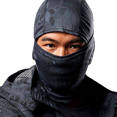 Tonsee M�nner Special, Hot Verkauf M�nner Hut Camouflage Army Radfahren Motorrad M�tze Balaclava hats voll Gesichtsmaske (schwarz)