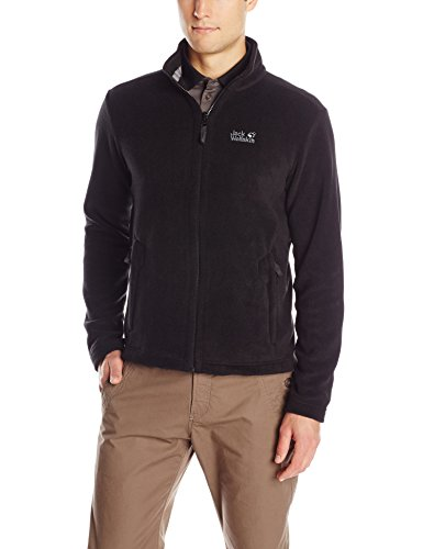 Jack Wolfskin Herren Fleece Jacke Moonrise Jacket, Black, L, 1702061-6000004