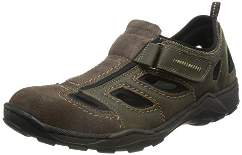 Rieker 08075 Sneakers-Men, Herren Sneakers, Braun (cigar/tabak/schwarz/27), 42 EU