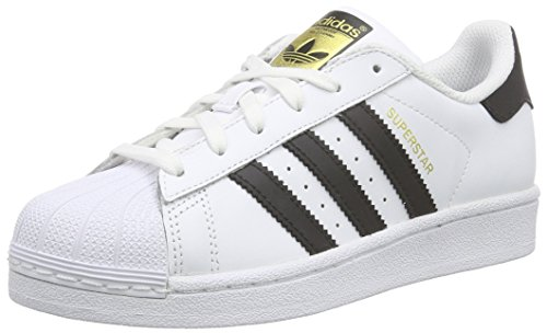 adidas Originals Superstar, Unisex-Kinder Sneakers, Wei� (Ftwr White/Core Black/Ftwr White), 38 2/3 EU (5.5 Kinder UK)