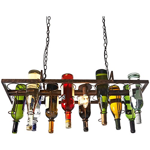 Deckenleuchte - Bottle - f�r leere Flaschen - individuell gestaltbar - 2 x E14 max. 40 W - Metall - Braun