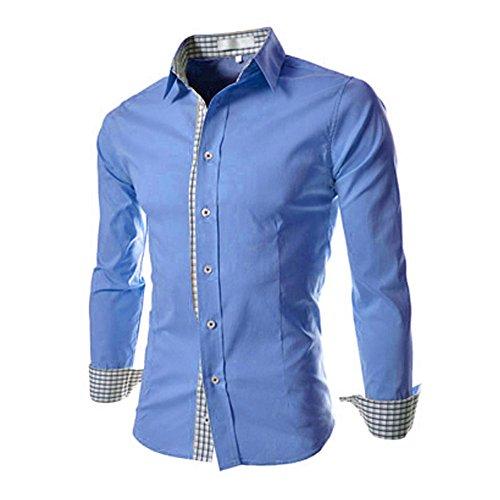 MIOIM� Herren Hemd Slim Fit Langarm Freizeit Shirt Tops